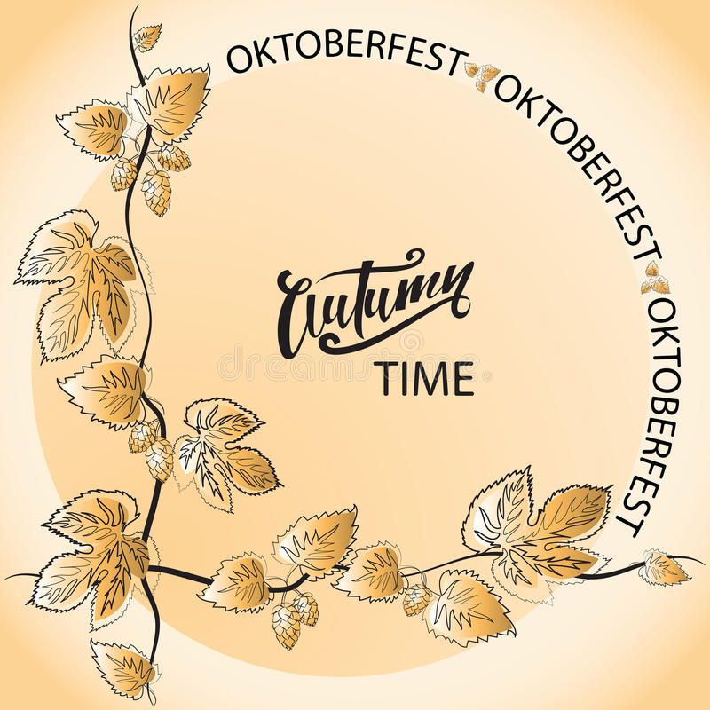 Autumn Time oktoberfest stock illustratie
