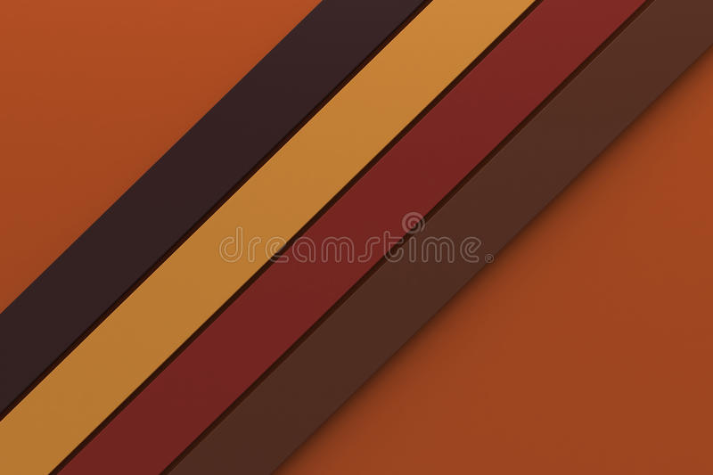 Autumn tone color background minimal design stripe line material royalty free stock photography