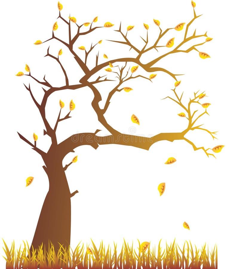 Autumn tree royalty free illustration