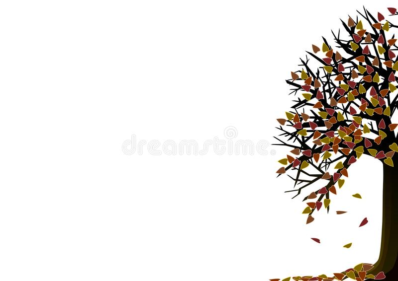 Download Autumn tree stock illustration. Illustration of green - 12692573