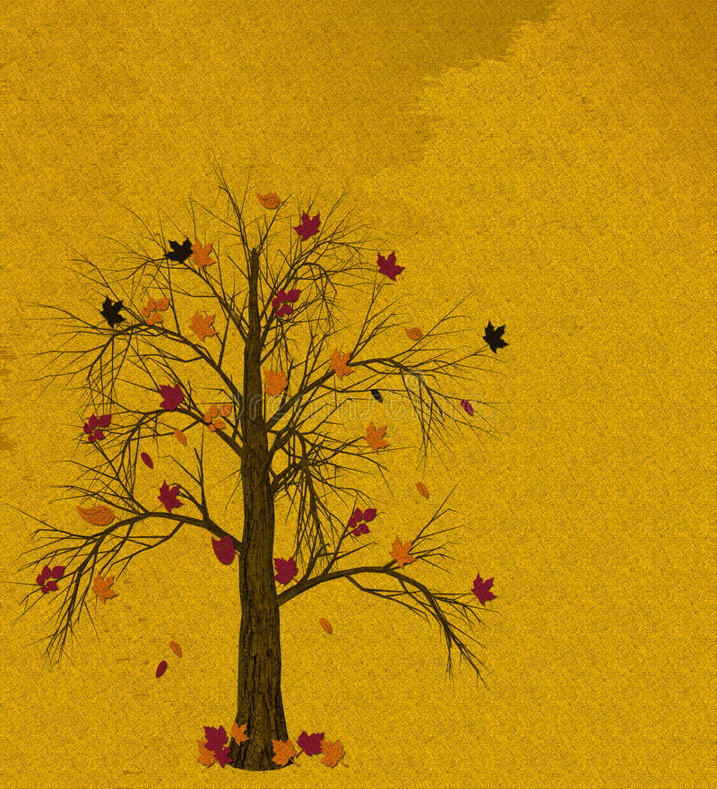Download Autumn Tree stock illustration. Image of brown, gold - 15245912
