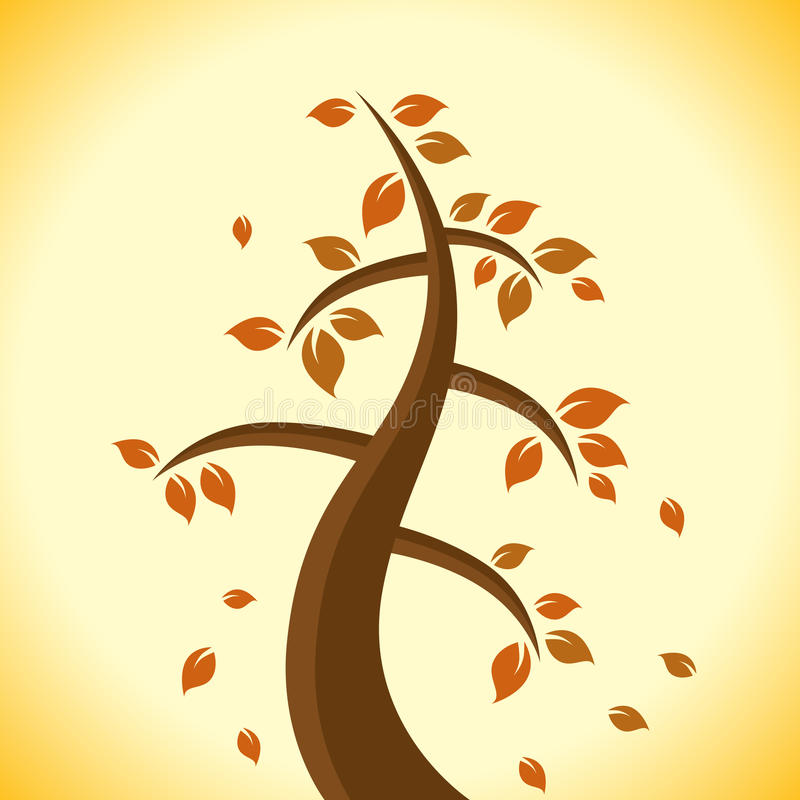 Download Autumn Tree stock vector. Image of design, leaf, tree - 26262781