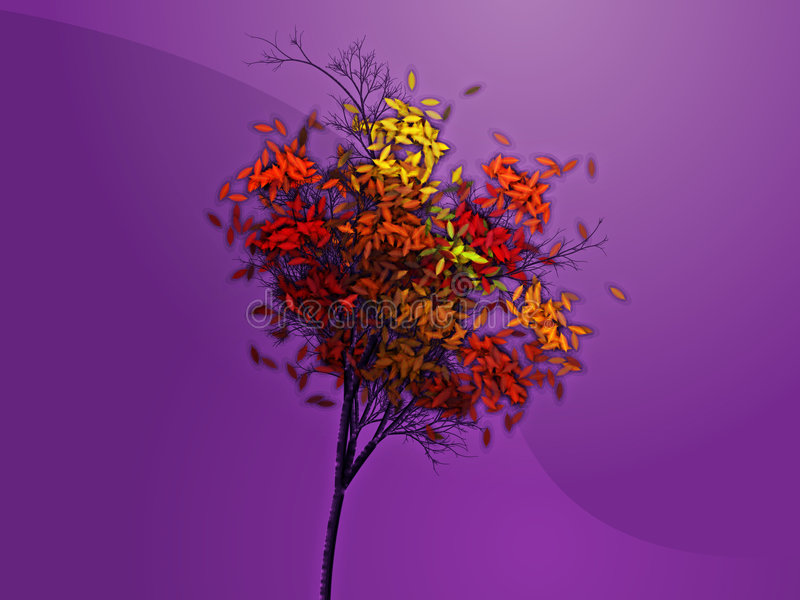 Download Autumn tree stock illustration. Image of falling, abstract - 7119105