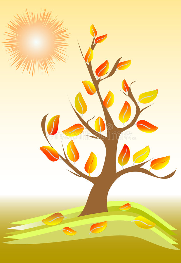 Autumn tree stock illustration