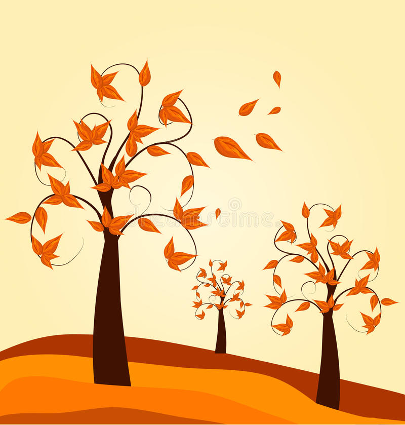 Download Autumn tree background stock vector. Image of bright - 20670658