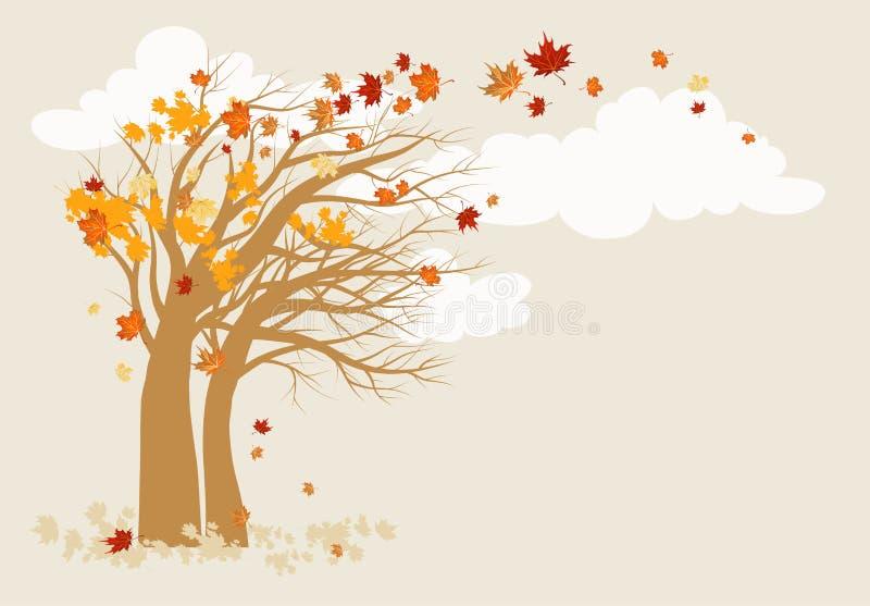 Autumn tree background stock illustration