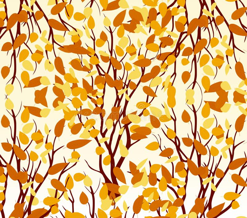 Autumn tree. Fall Leaves Background vector illustration