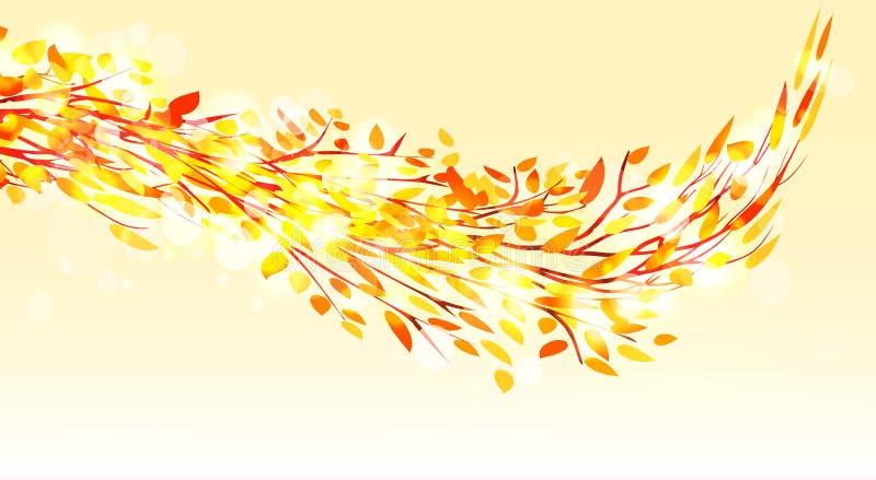 Autumn tree. Fall Leaves Background.  vector illustration
