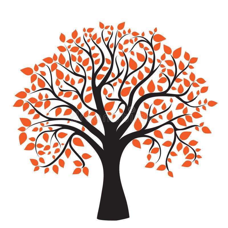 Autumn tree for your design stock illustration