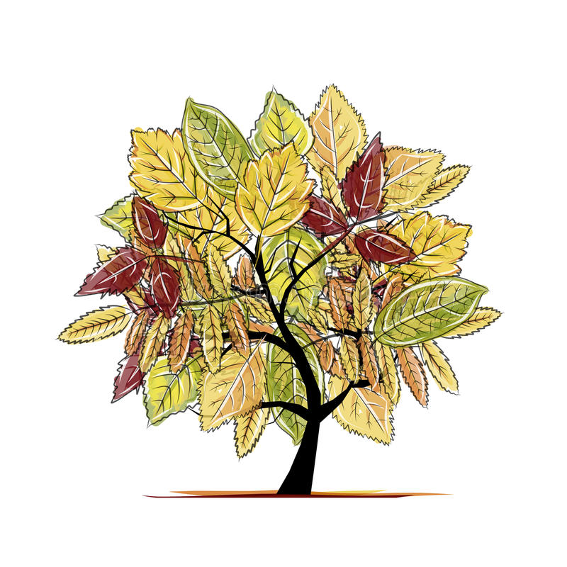Download Autumn Tree For Your Design Stock Vector - Illustration of fall, branch: 34343612