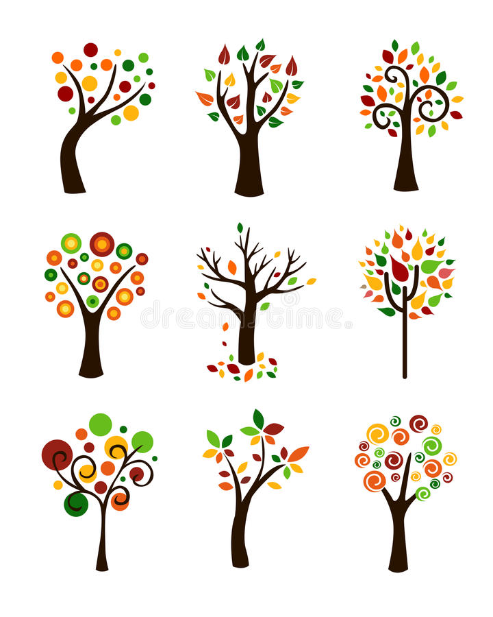 Download Autumn Trees stock vector. Illustration of fall, botany - 26754779