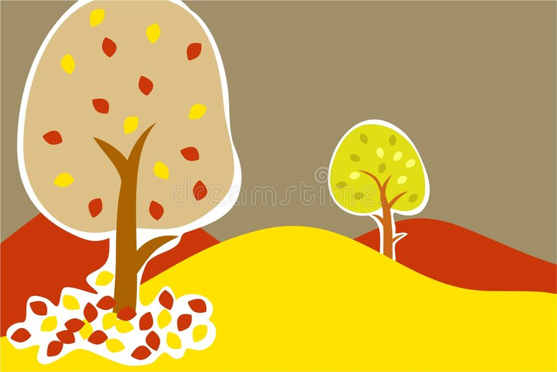Autumn trees royalty free illustration
