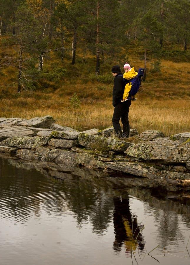 Autumn trekking royalty free stock images