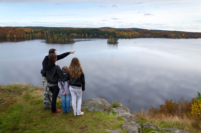 Download Autumn Trip For Whole Family Stock Image - Image: 27473057