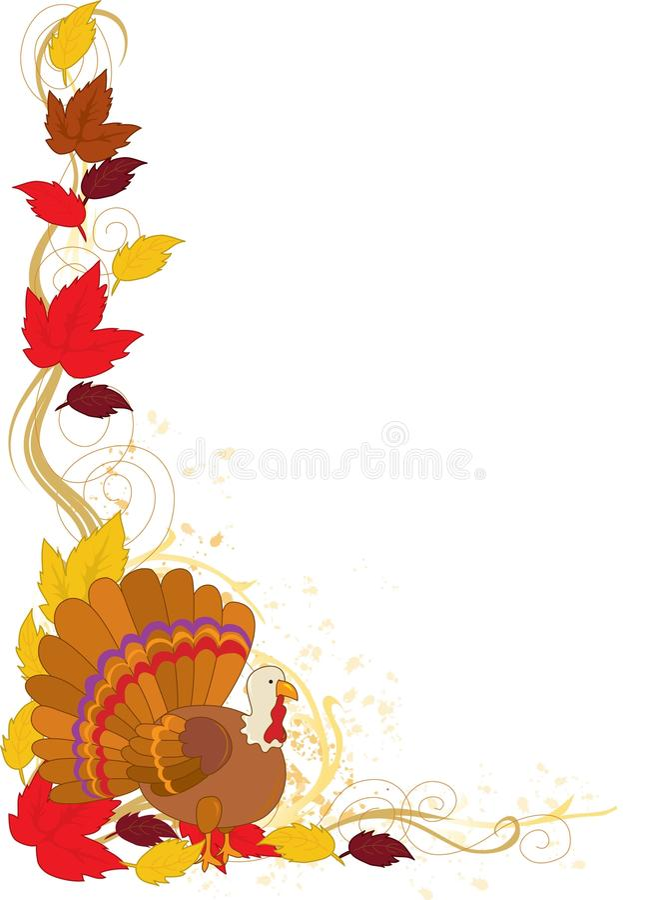 Download Autumn Turkey Border stock vector. Image of border, clip - 15747647