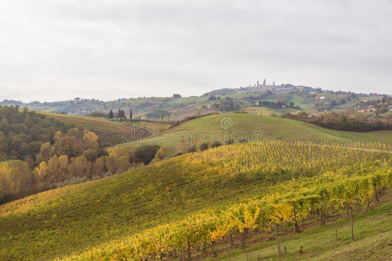 Autumn in Tuscany, Italy. Near San Gimignano stock photography