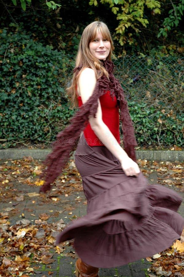 Autumn twirl royalty free stock photography