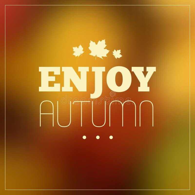 Autumn Typographic Background stock afbeeldingen