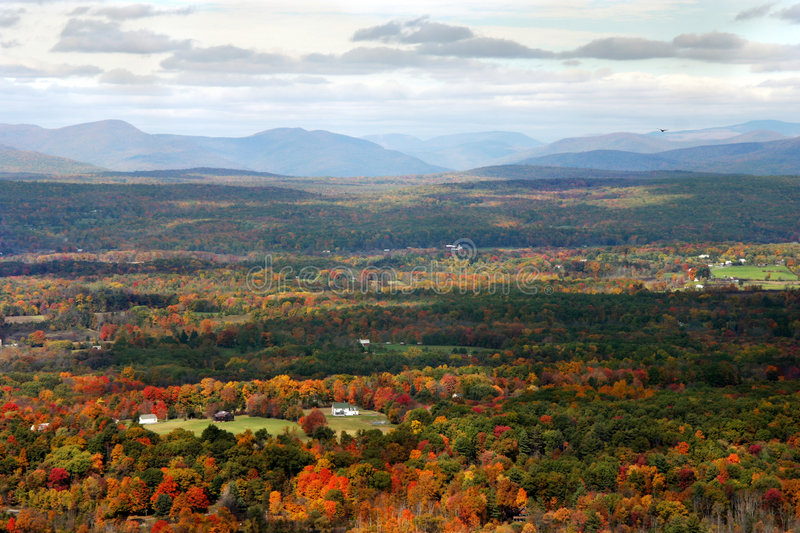 Download Autumn Valley stock photo. Image of landscape, vista, clouds - 35084