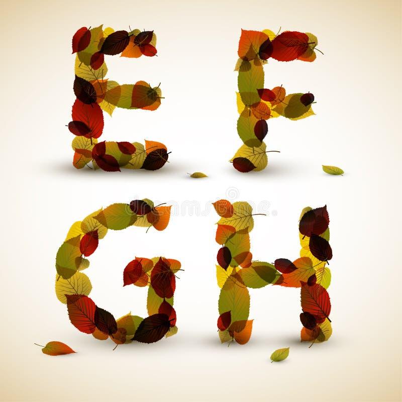 Autumn Vector Alphabet Letters / Font Royalty Free Stock Photos