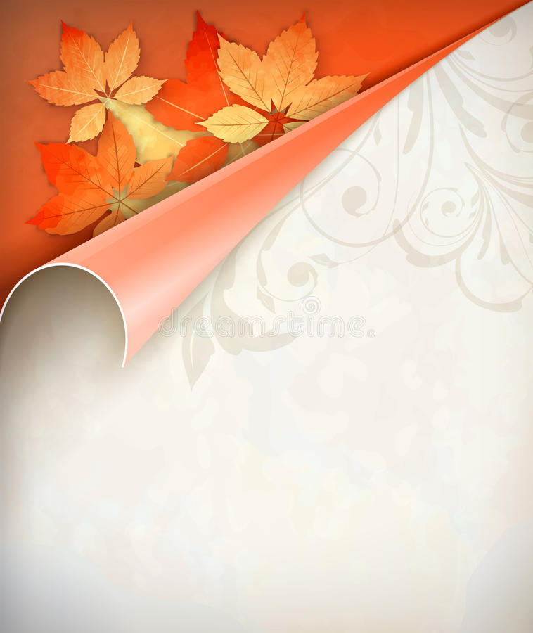 Autumn Vector Corner Card illustrazione vettoriale