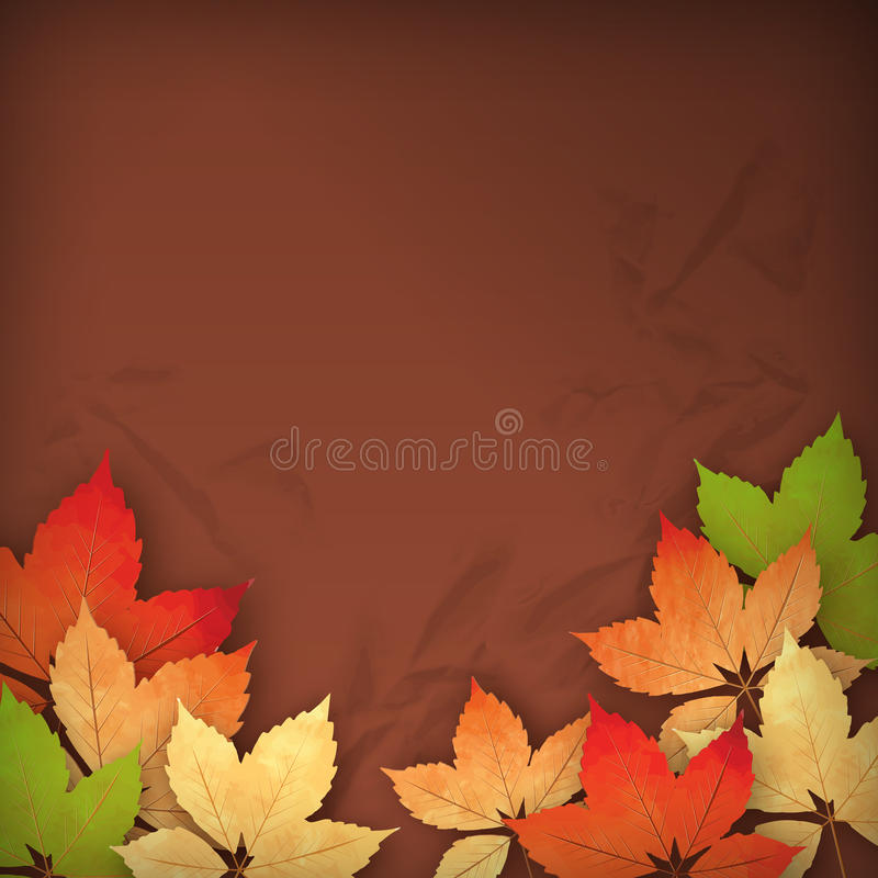Autumn Vector Fall Leaves stock abbildung