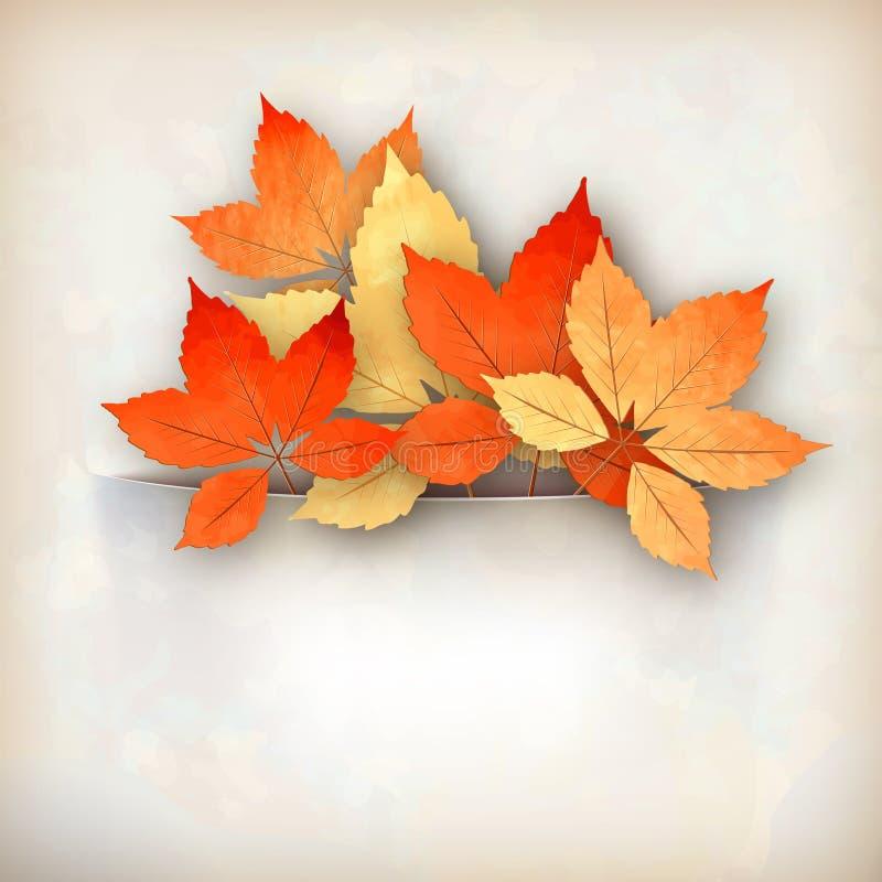 Autumn Vector Fall Leaves stock abbildung