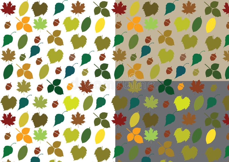 Autumn Vector Pattern royaltyfri illustrationer