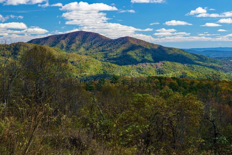 Autumn View av den blåa Ridge Mountains royaltyfri fotografi