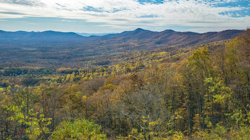 An Autumn of View of the Mountains and Goose Creek Valley - 2. Autumn view of the Blue Ridge Mountains and Goose Creek Valley located in Bedford County Virginia stock photography