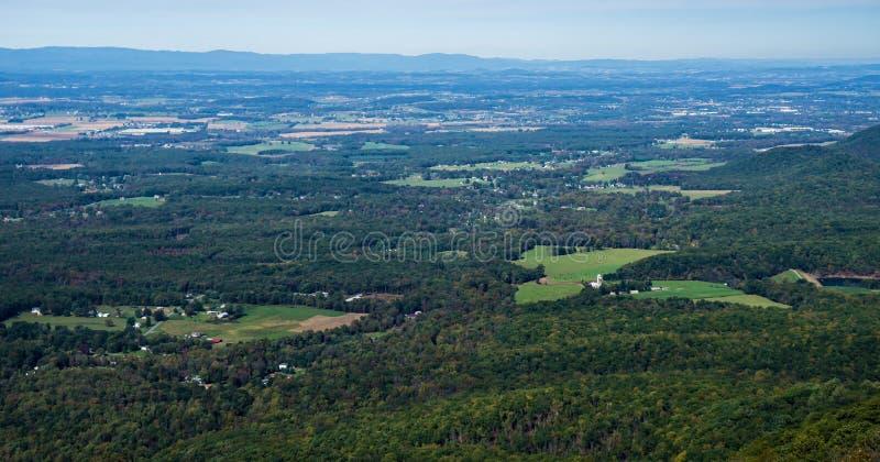 Autumn View de la vallée de Shenandoah large, la Virginie, Etats-Unis photo libre de droits