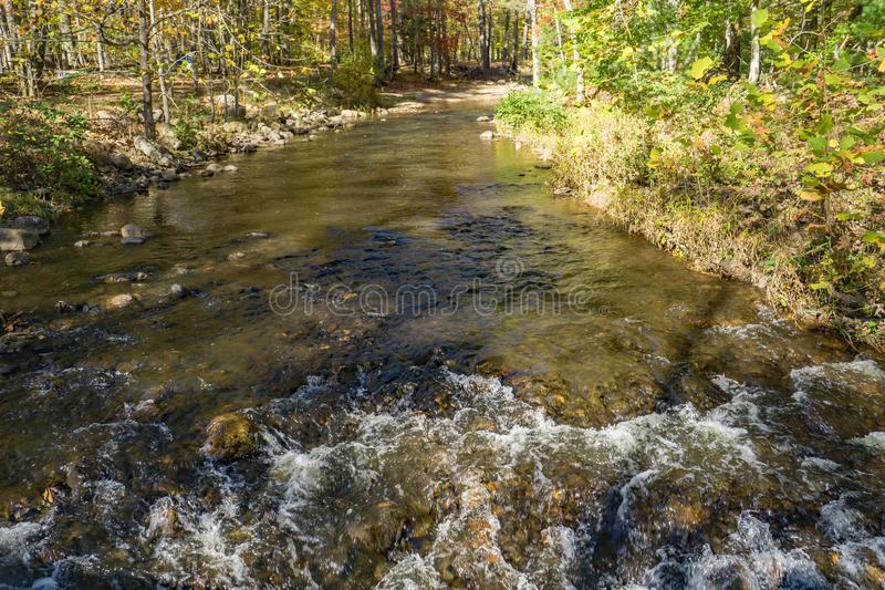 Autumn View de Wilson Creek imagenes de archivo