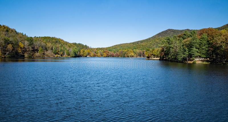 Douthat Lake stock photo