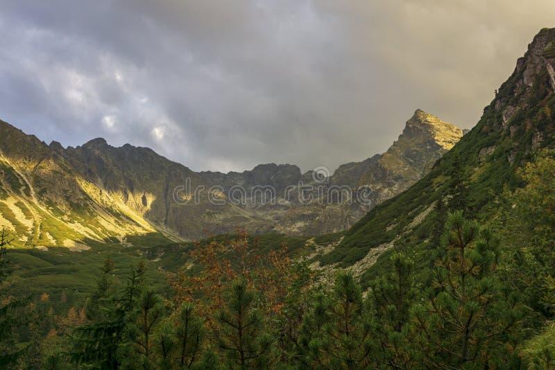 Autumn view of the High Tatra Mountains in Poland.  royalty free stock photos