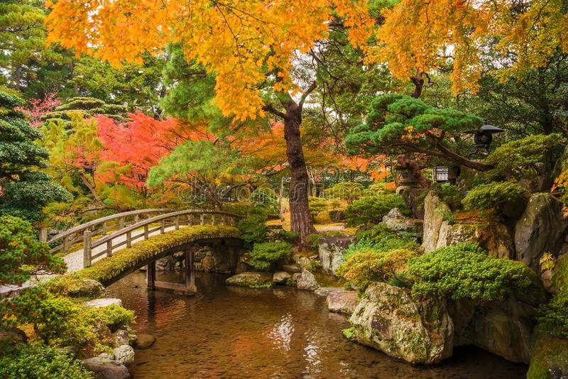 Autumn in Kyoto. Autumn view of Kyoto Imperial Palace gardens stock image