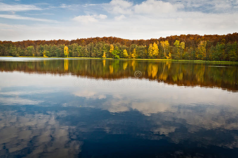 Autumn view at the lake royalty free stock images