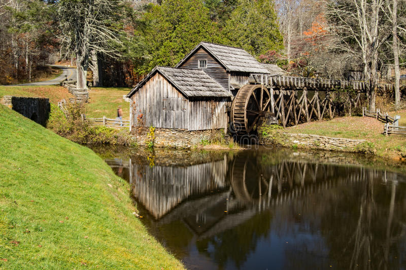 Autumn View of Mabry Mill, Blue Ridge Parkway stock photos