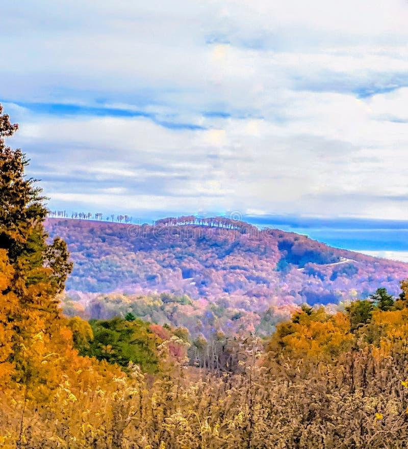 Autumn View of Mountains stock image