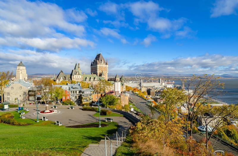 Autumn view of Old Quebec City in Quebec, Canada royalty free stock photos