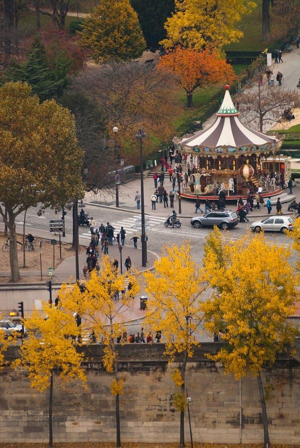 Autumn view of Paris stock photos