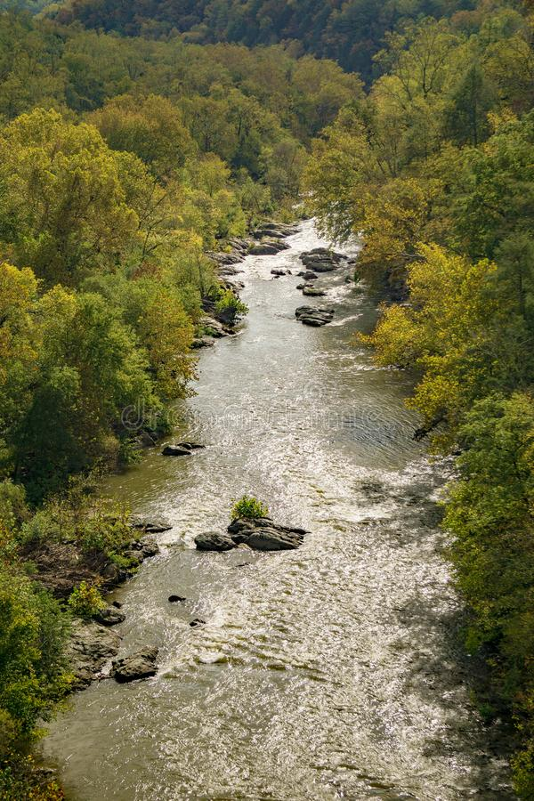 An Autumn View of the Roanoke River Gorge royalty free stock image