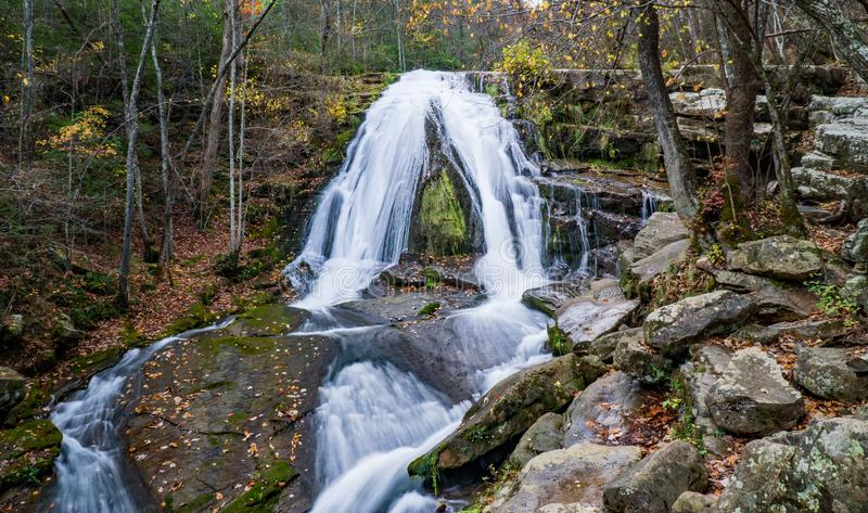 An autumn view of Roaring Run Waterfall located in Eagle Rock in Botetourt County, Virginia - 3. stock image