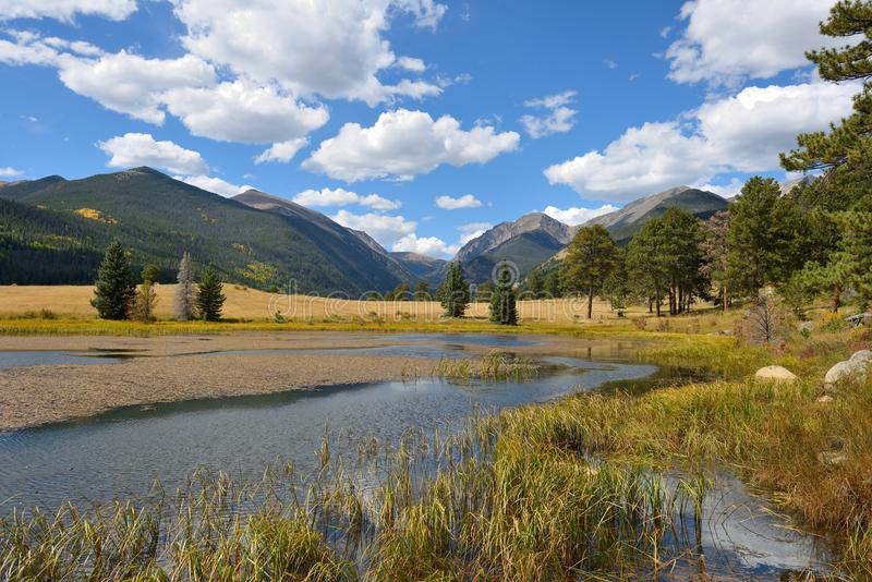 Autumn View of Rocky Mountain National Park stock photography