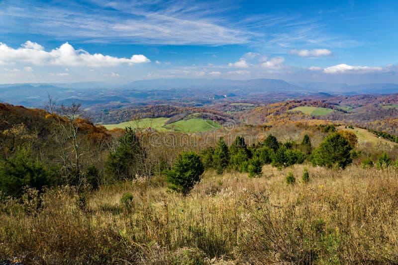 Autumn View van Zoute Vijverberg stock fotografie
