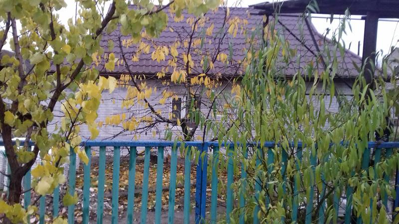 Autumn in the village royalty free stock photography