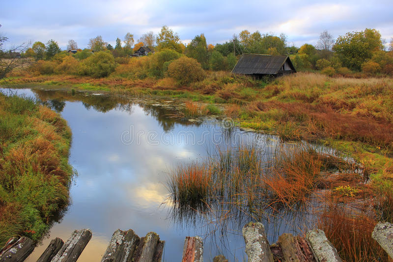 Autumn in the village, Russia stock images
