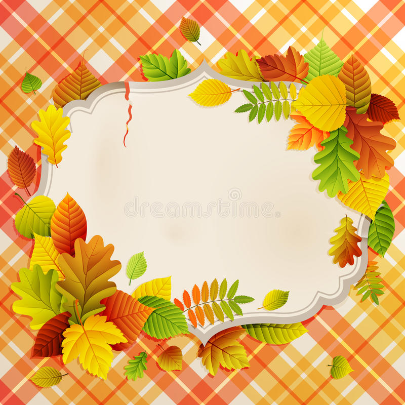 Download Autumn Vintage Greeting Card Stock Vector - Image: 21025932