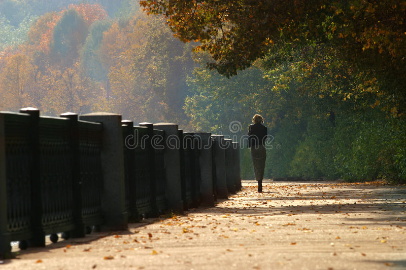 Autumn walk stock photography