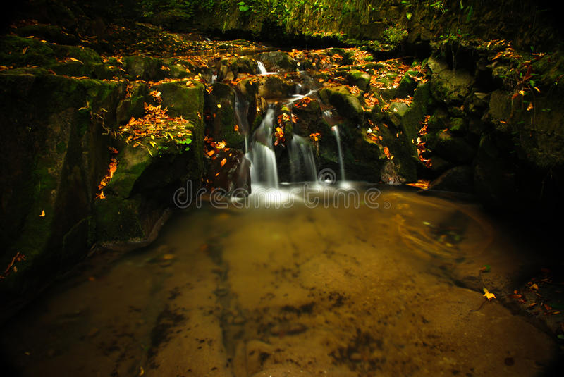 Download Autumn waterfall stock image. Image of leaves, flowing - 11331867