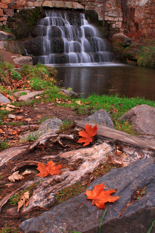 Download Autumn waterfall stock image. Image of fall, mountain - 22341613